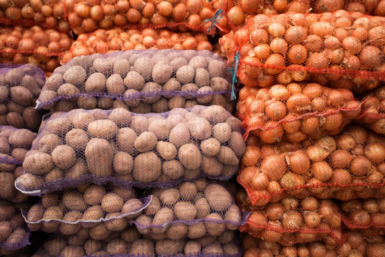 Bags,With,Onion,And,Potato,At,Farmers,Market